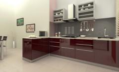 L Shaped Modular Kitchens