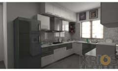 U Shape modular Kitchen Design
