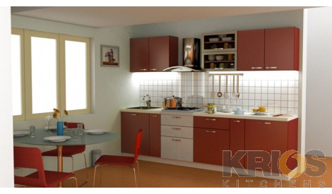 Straight Shape modular kitchen,