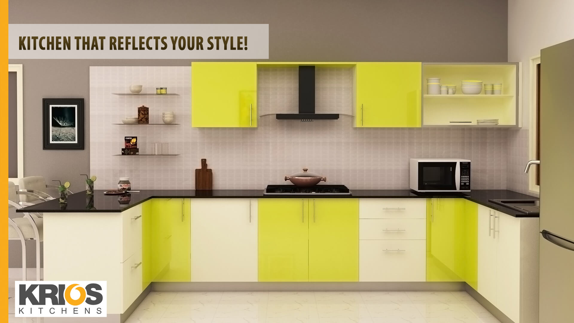 The Classic Color Ideas For Your Modular Kitchen | Krios Kitchens