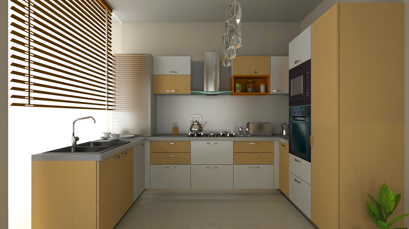 U shaped modular kitchens u shaped kitchen designs for Galley shaped kitchen designs