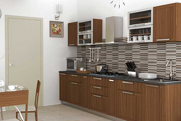 U shaped modular kitchens u shaped kitchen designs for Straight kitchen ideas