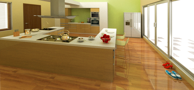 Kitchen Island Pack A Punch With Creative Working Of The Space!