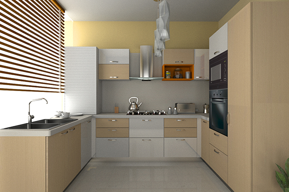 Kitchen types for Single wall modular kitchen designs