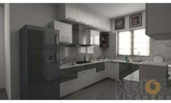 U Shape modular Kitchen Design